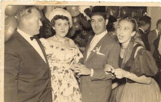 Fedor Iranovich, Galina & I, in the hotel Tamanoco. Carnival Ball Caracas