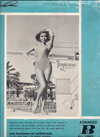 Ludmila on the magazine cover, advertising for the Hotel Tropicana,  Las Vegas