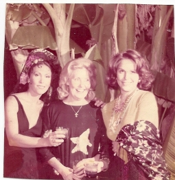 Halloween at Ludmila`s mansion in Northredge from left to right, Ludmila, Galina, and my niece Vera