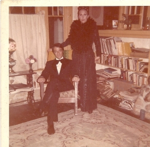 Dean Martin's house in the library Jack and Ludmila in Christmas party