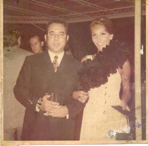 Maestro Aldemaro Romero creator of Onda Nueva and Ludmila the night of the opening of the concert