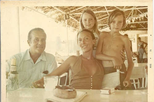 On the beach in Acapulco Buck, Ludmila and Ron lavender Children