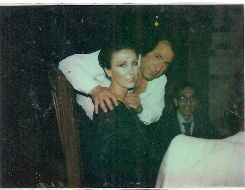 Daud with Ludmila in one of the parties