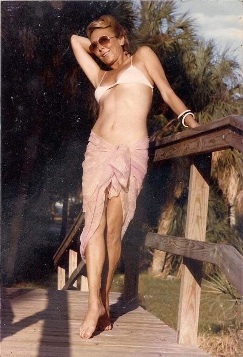 Ludmila in her garden