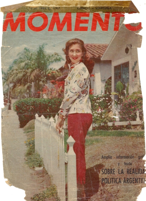 "Caracas, Ludmila on the cover of a most famous popular magazine""  """"MOMENTO"""